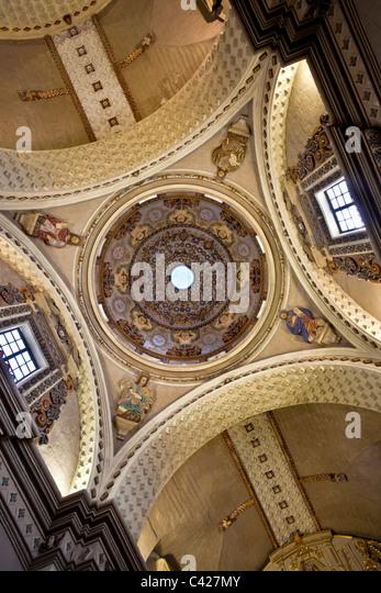 Belen baroque church in the colonial complex of Belen, now art museum. Made entirely from vulcanic rock between - Stock-Bilder