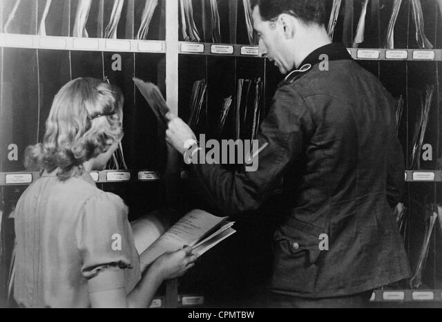 Records archive of the Soldiers Station Belgrade, 1942 - Stock-Bilder