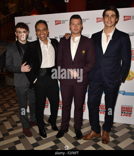 London,UK, 17th Sept 2015 : David Bedella,Richard Meek and  Dominic Andersen,attends the Rocky Horror Show Gala - Stock Image