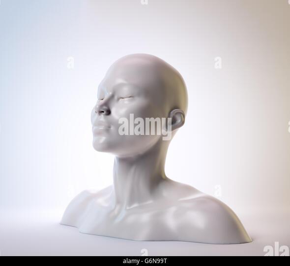 A female bust - psychology illustration - Stock-Bilder