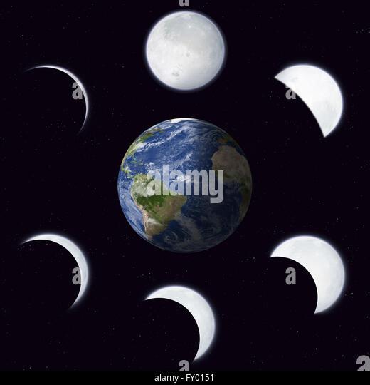 Moon Calendar Illustration : Phases of the moon illustration stock photos