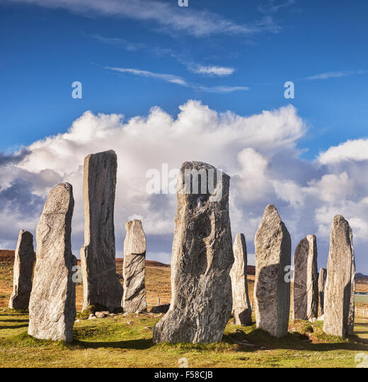 Stone circle at Callanish, Isle of Lewis, Western Isles, Outer Hebrides, Scotland, UK - Stock-Bilder