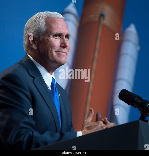 Houston, United States Of America. 07th June, 2017. U.S. Vice President Mike Pence delivers remarks during a ceremony - Stock Image
