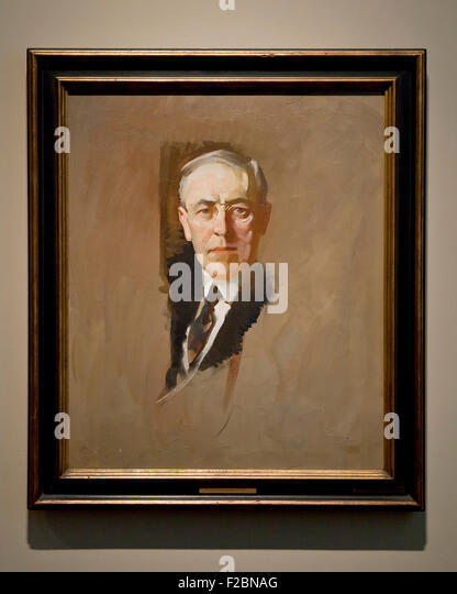 Woodrow Wilson by John Christen Johansen, 1919 - oil on canvas - Smithsonian National Gallery of Art, Washington, - Stock-Bilder