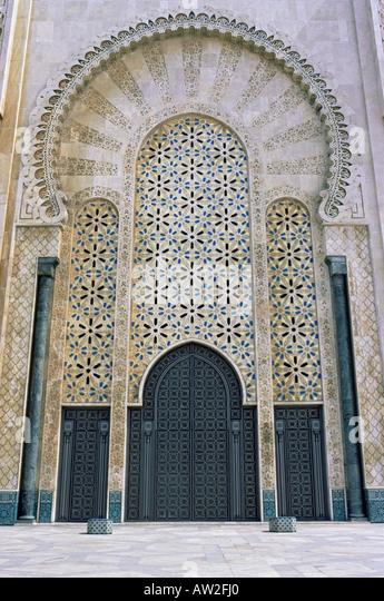 Hassan II mosque casablanca - Stock Image