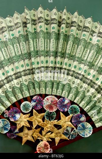 american usa dollar bill george washington common denomination US currency. president, Gilbert Stuart,  obverse - Stock Image