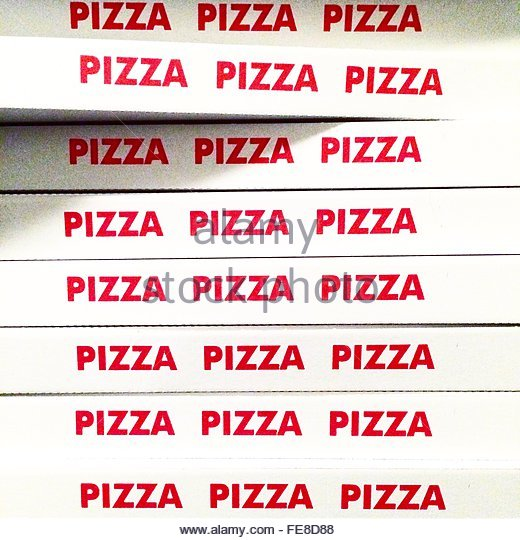 Stack Of Pizza Boxes - Stock-Bilder