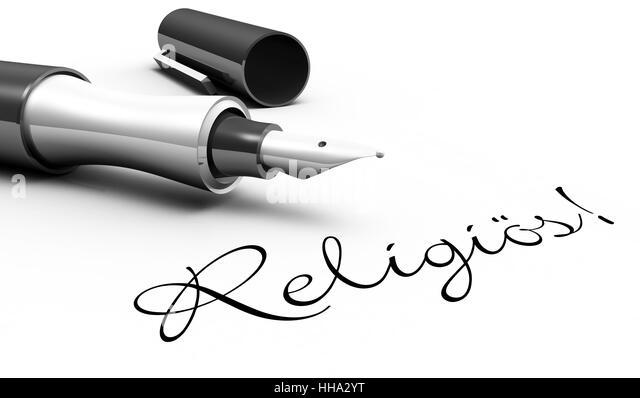 Religiös! - Stift Konzept - Stock-Bilder