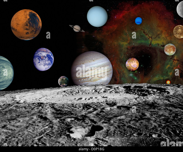 Planets of the Solar System - Stock Image