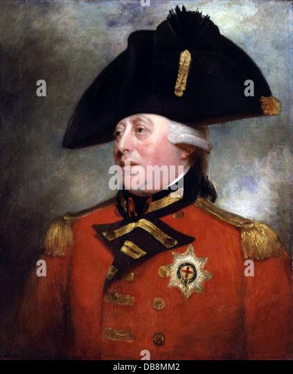 George III, King George III of England - Stock Image