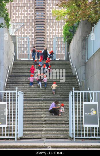 young kindergarten school children kids outing - Stock Image
