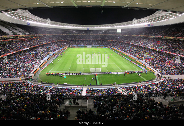 Cape Town, Green Point Stadium, Match Paraguay vs. Italy, 14 June 2010 - Stock Image