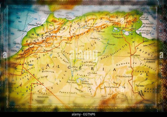 Traveler focused on Algeria - Stock Image