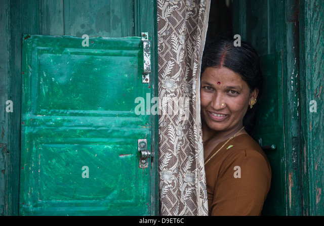 Local woman, Landour, Mussoorie, India - Stock Image