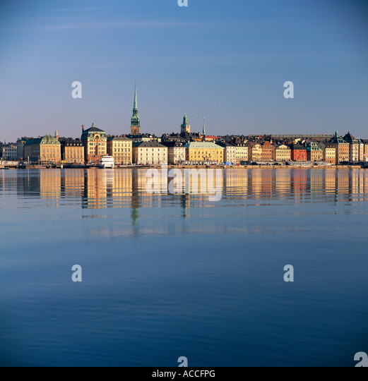 View over Stockholm. - Stock Image