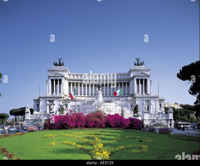 Monumento Vittorio Emanuele ROMA ITALY - Stock Image