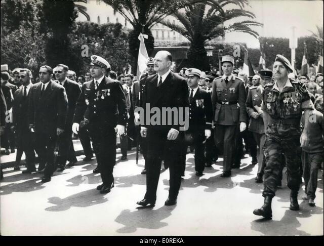 May 14, 1959 - General Challes, General Massu - Stock Image