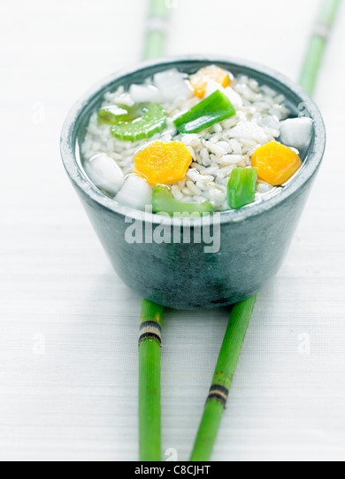 Guen Mai,soup from the Zen temples - Stock Image