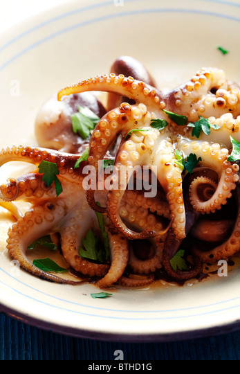 fresh calamari - Stock Image