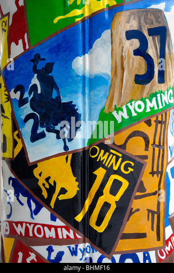 Images representing the State of Wyoming, in Cheyenne City, Wyoming State, United States of America - Stock Image