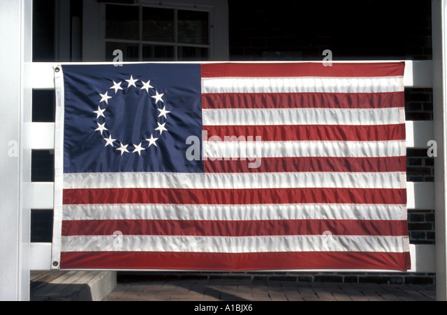 Flags first american flag - Stock Image