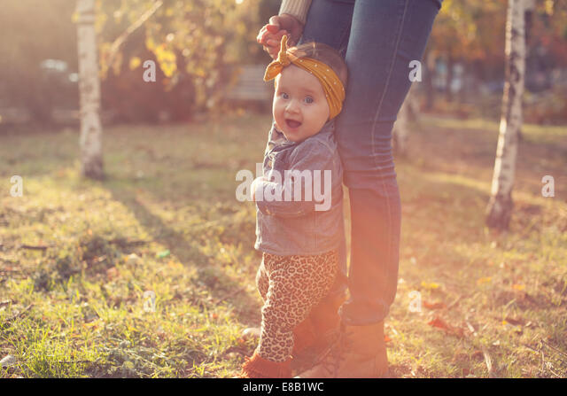 Fashionable six months baby model - Stock Image