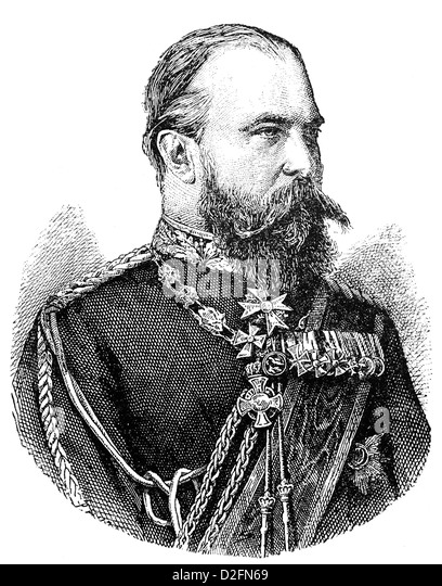 Karl Friedrich Wilhelm Ludwig IV of Hesse and by Rhine, 1837-1892, Grand Duke of Hesse and by Rhine, Germany - Stock Image