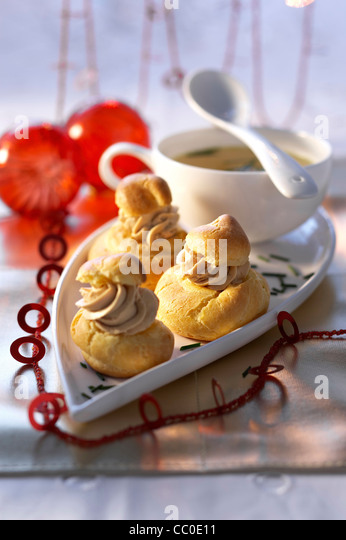 Foie Gras in Pastry Shells - Stock Image