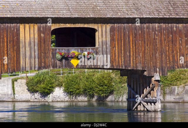 Rhine bridge Gailingen-Diessenhofen - Stock-Bilder