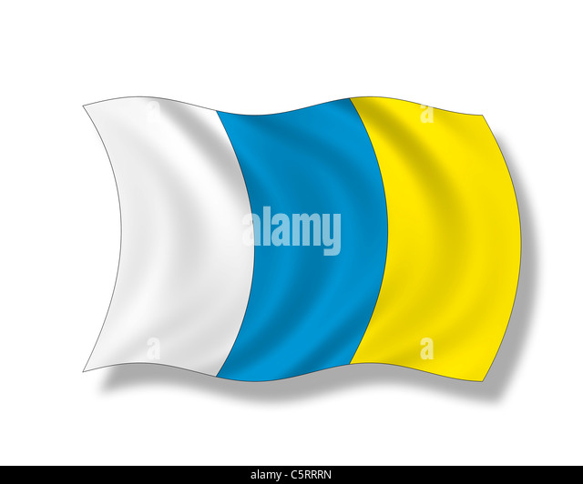 Illustration, Flag of The Canaries - Stock Image