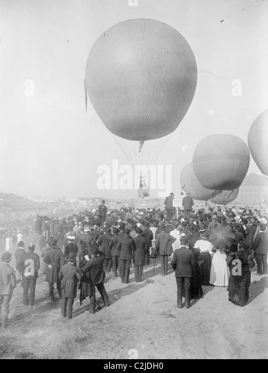 Berlin Balloon Race - Stock Image