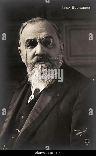 Leon Bourgeois - French statesman - portrait 21 May 1851 - 29 September 29 1925 - Stock Image