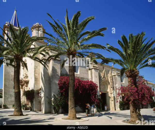 Spain Province Cadiz Costa de la Luz Chipiona church - Stock Image