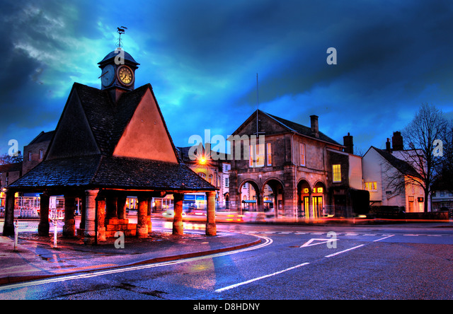 Witney marketplace, constituency of David Cameron Oxon (Oxfordshire) England UK - Stock Image