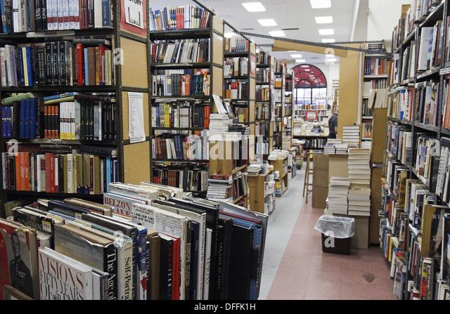 Interior of Strand Bookstore. New York City. New York. United States - Stock Image