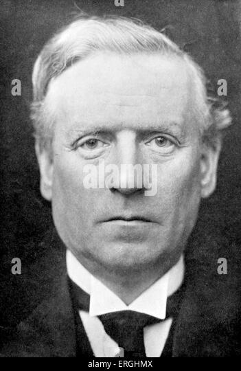 Herbert Henry Asquith - portrait - liberal UK Prime Minister 1908 - 1916 12 September 1852 - 15 February 1928 - Stock Image