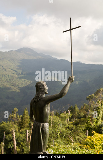 Statue of Jesus, Botoga, Colombia - Stock Image