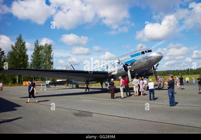 Douglas DC-3 airplane, Finland - Stock Image