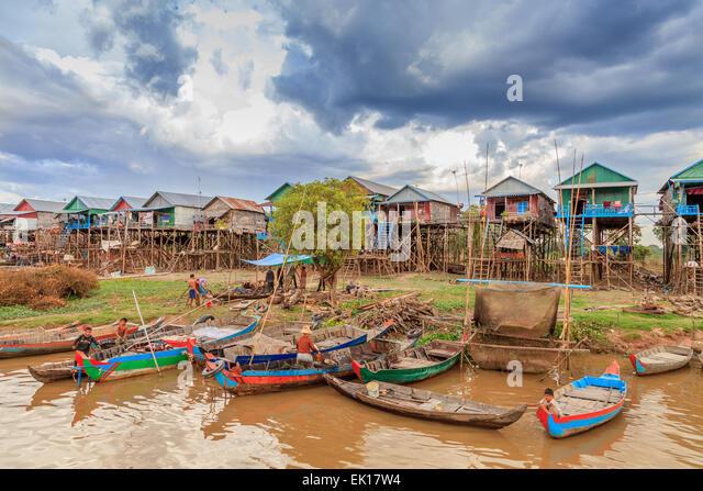 Kampong Phulk floating village - Stock-Bilder
