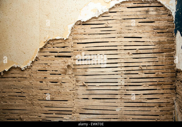 Lath And Plaster : Lath and plaster stock photos
