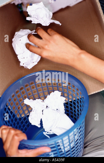 Person recycling - Stock Image
