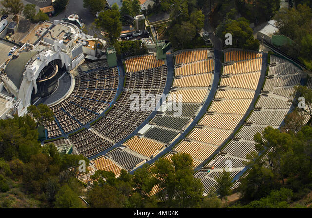 Hollywood Bowl, Hollywood, Los Angeles, California, USA - aerial - Stock Image