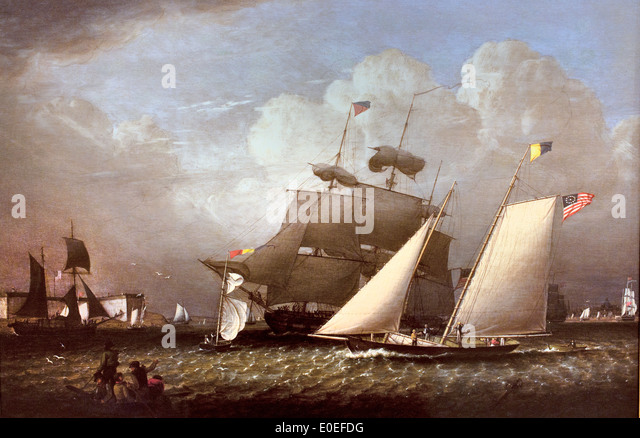 Picture of the 'Dream' Pleasure Yacht 1839 Robert Salmon 1775-1845 American United States of America USA - Stock Image
