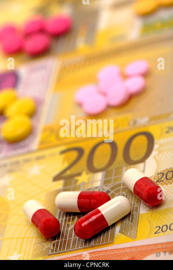 THE COST OF HEALTH - Stock Image