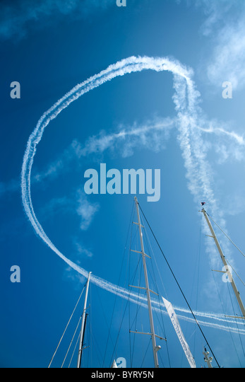 red arrows display - Stock Image