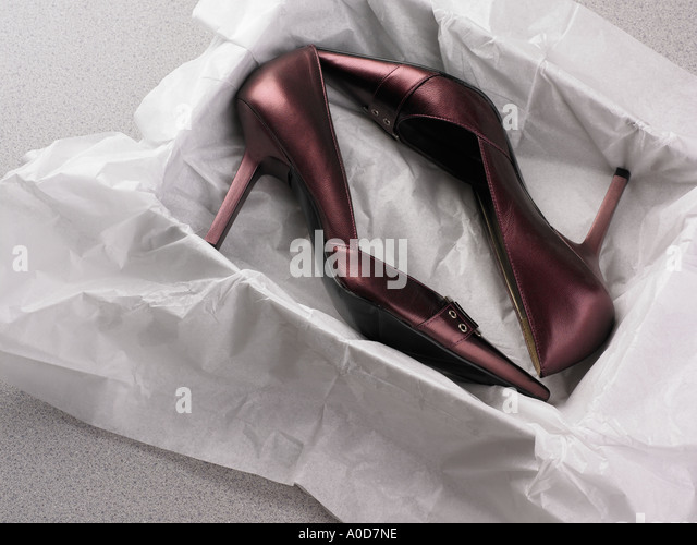 Still life of new high heels - Stock Image