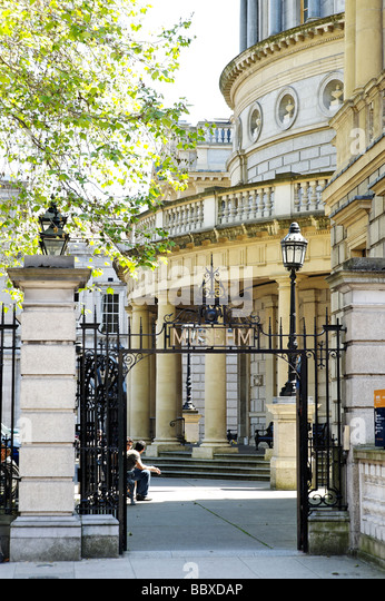 Entrance to the National Museum of Archeology and History building Dublin Republic of Ireland - Stock Image