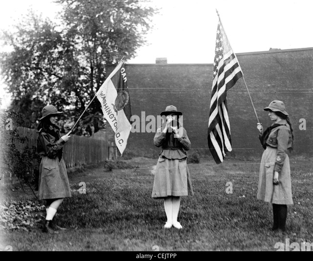 Girl Scouts, America - Stock Image