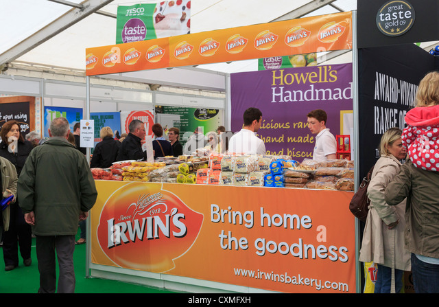 Stall selling Irwin's bread and bakery products at the food festival in Belfast, Co Antrim, Northern Ireland, - Stock Image
