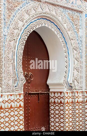 Morocco, High Atlas, Marrakech, imperial city, medina listed as World Heritage by UNESCO, Mouassine Mosque (12th - Stock Image